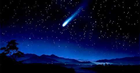 Você, comparado como uma estrela cadente