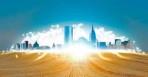 As cidades de Luz vão aparecer a olhos nus