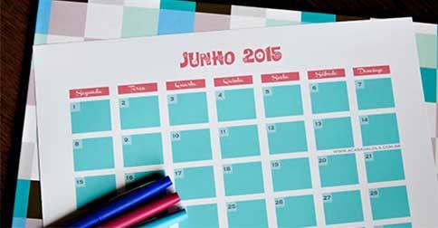 As energias para junho 2015