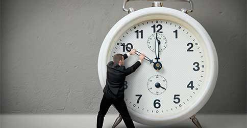 ELE é a certeza que nada está atrasado ou adiantado