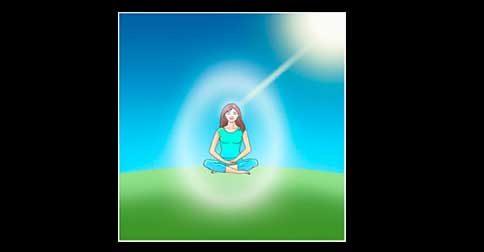 A sua Divina Essência está descendendo em seu campo etérico