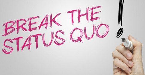 """A quebra do """"Status quo"""""""