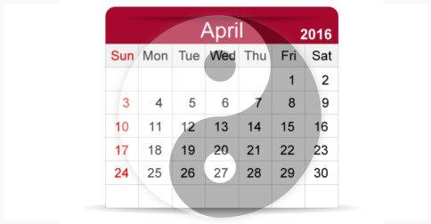 Mês de abril - um mês que atuará como uma ligação interdimensional