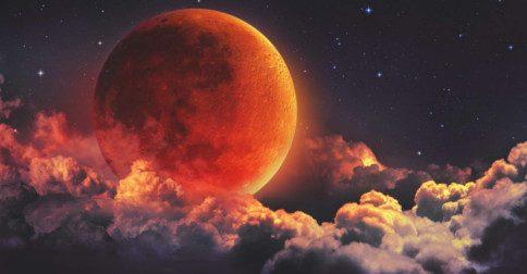 O segundo eclipse lunar de penumbra da Lua Cheia em setembro