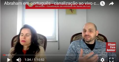 Abraham em português - canalização ao vivo com Luciana Attorresi - 19 de fev 2017