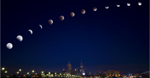 Nos dias 10 e 11 de fevereiro teremos um eclipse lunar de Lua Cheia muito especial