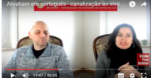 Abraham em português - canalização ao vivo através de Luciana Attorresi 19 março 2017