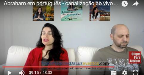 Abraham em português - canalização ao vivo por Luciana Attorresi - 14 de maio 2017