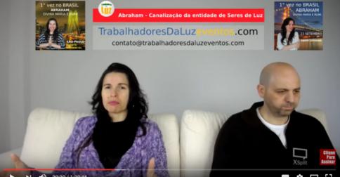 Abraham em português - canalização ao vivo por Luciana Attorresi - 7 maio 2017