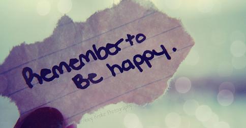 Sempre buscando a felicidade