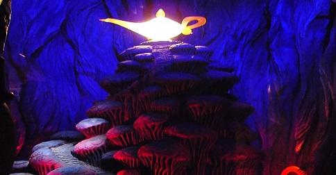 A caverna das Maravilhas de Aladdin