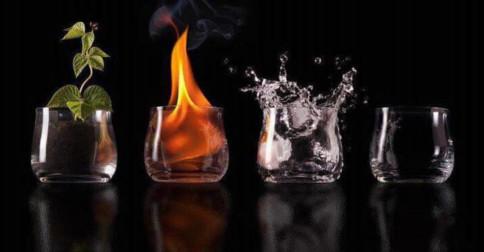 Conectando-se aos elementos água, fogo, terra e ar para aliviar o estresse da vida