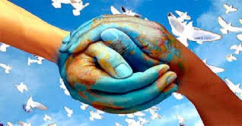 Desejamos um mundo mais pacífico e amoroso