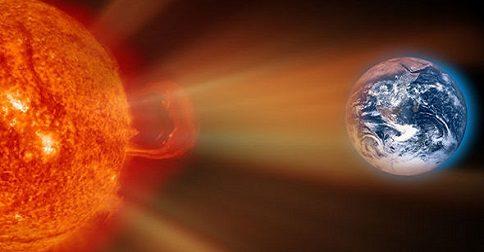 Os efeitos dos ventos solares que estão em nossa atmosfera neste momento