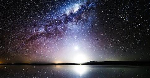 Ondas de energia vindas de toda a galáxia