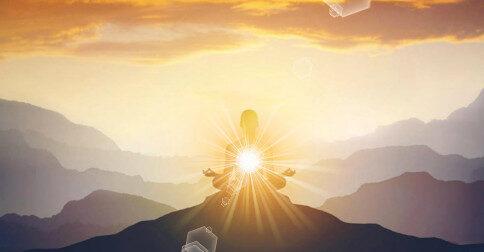 A Luz do amor flui ao redor de seu corpo físico