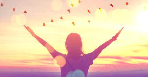A gratidão traz a liberdade